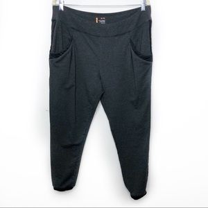 Lucy Quilted Trim High Rise Joggers Pants Gray XL